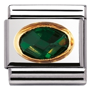 Nomination Emerald Cubic Zirconia Charm