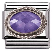 Nomination Purple Cubic Zirconia Charm