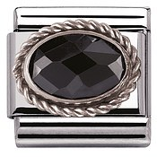 Nomination Black Cubic Zirconia Charm