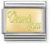 Nomination Gold Thank You Charm