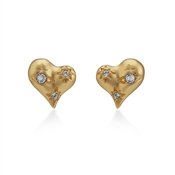 Vivienne Westwood Gold Alice Heart Earrings