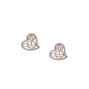 Vivienne Westwood Giuseppa Rose Heart Earrings