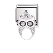 Nomination Cubic Zirconia Owl Charm