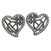 Vivienne Westwood Giuseppa Ruthenium Heart Earrings