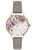 Olivia Burton Marble Floral London Grey Watch