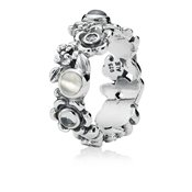 Pandora Floral Ribbon Ring