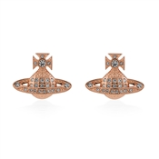 Vivienne Westwood Rose Gold Mini Bas Relief Earrings