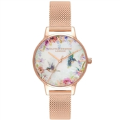 Olivia Burton Rose Gold Hummingbird Bracelet Watch