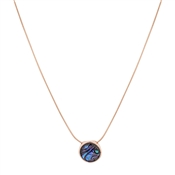 August Woods Rose Gold Abalone Pendant Necklace