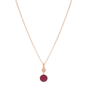 August Woods Rose Gold Blush Glitter Necklace