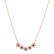 August Woods Rose Gold Champagne Crystal Necklace