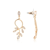 August Woods Rose Gold Clear CZ Floral Detail Earring