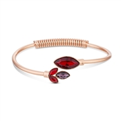 August Woods Rose Gold Red Glass Bangle