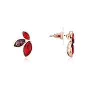 August Woods Rose Gold Red Glass Drop Earrings