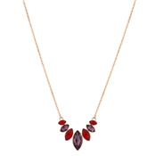 August Woods Rose Gold Colour Glass Drop Necklace