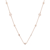 August Woods Rose Gold Cream Open Work Circle Necklace