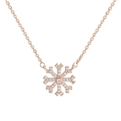 August Woods Rose Gold Crystal Snowflake Necklace
