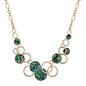 August Woods Rose Gold Crystal Abalone Circle Necklace