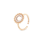August Woods Rose Gold Dimples Crystal Ring