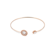 August Woods Rose Gold Dimples Crystal Bangle