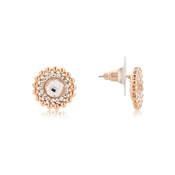 August Woods Rose Gold Dimples Halo Stud Earrings