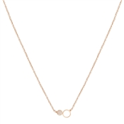 August Woods Rose Gold Crystal Open Circle Necklace