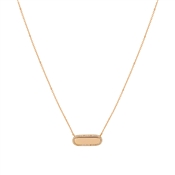 August Woods Rose Gold Crystal Bar Necklace