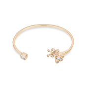 August Woods Rose Gold CZ Butterfly Open Bangle