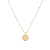 August Woods Rose Gold Crystal Circle Necklace