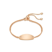 August Woods Rose Gold Crystal Oval Bracelet