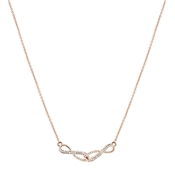 August Woods Rose Gold Crystal Infinity Linked Necklace