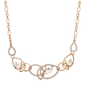 August Woods Rose Gold Crystal Open Crystal Necklace
