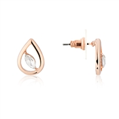 August Woods Rose Gold Crystal Open Drop Earrings
