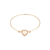 August Woods Rose Gold Pink Heart Stud Bangle