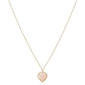 August Woods Rose Gold Pink Heart Necklace