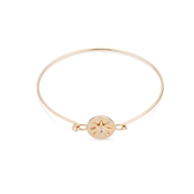 Dirty Ruby Rose Gold Crystal Star Closed Bangle