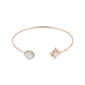 August Woods Rose Gold Star Opal Crystal Bangle