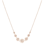 Dirty Ruby Rose Gold Crystal Stars Necklace