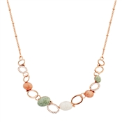 August Woods Rose Gold Geo Rock Layered Necklace