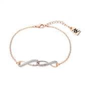 August Woods Rose Gold Infinity Crystal Linked Bracelet