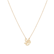 August Woods Rose Gold Love Script Necklace