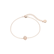 Dirty Ruby Rose Gold Opal Sun Bracelet