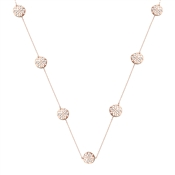 August Woods Rose Gold Open Circles Long Necklace