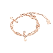 August Woods Rose Gold Open Detail Charm Bracelet