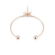 August Woods Rose Gold Hanging Charm Bangle