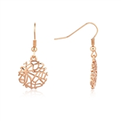 August Woods Rose Gold Intricate Mesh Earrings