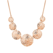 August Woods Rose Gold Intricate Mesh Necklace