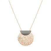 August Woods Rose Gold Open Mesh Necklace