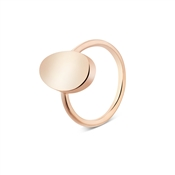 Dirty Ruby Rose Gold Oval Signet Ring