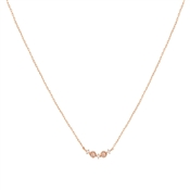 Dirty Ruby Rose Gold Pink Moonstone Crystal Curve Necklace